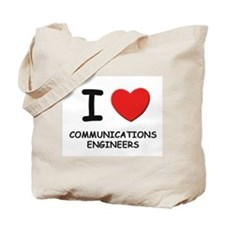 I love communications engineers Tote Bag