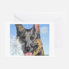 German Shepherd Christmas Cards #1 (Pk of 10)