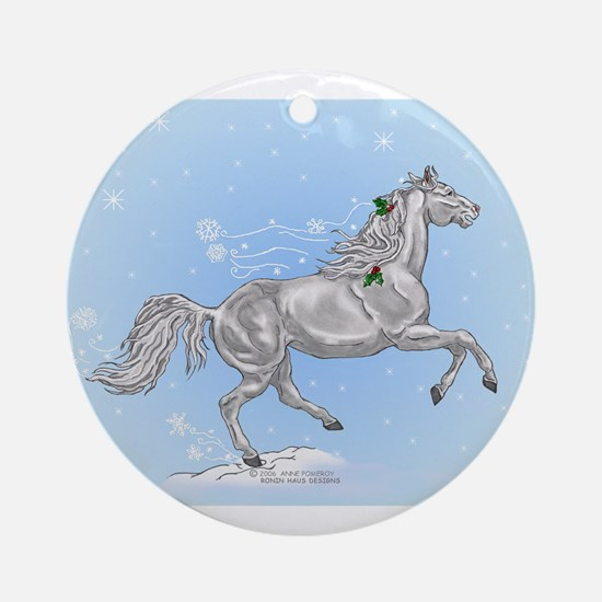 Horse Christmas Ornament  #1 (Round)