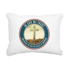 In God We Trust Rectangular Canvas Pillow