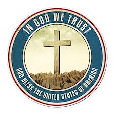 In God We Trust Round Car Magnet