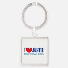I Heart Auntie - Cool Snow Cap Keychains