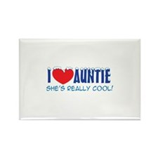 I Heart Auntie - Cool Snow Cap Rectangle Magnet