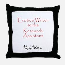 Erotica Writer Throw Pillow