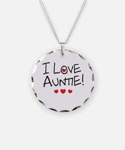 I Love Auntie - Kid Scribble Necklace