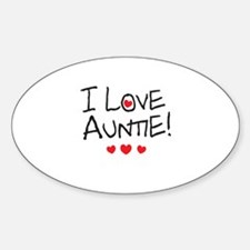 I Love Auntie - Kid Scribble Decal