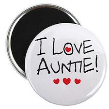 I Love Auntie - Kid Scribble Magnet