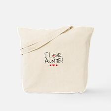 I Love Auntie - Kid Scribble Tote Bag