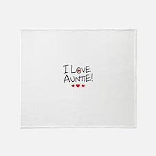 I Love Auntie - Kid Scribble Throw Blanket
