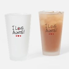 I Love Auntie - Kid Scribble Drinking Glass