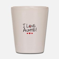 I Love Auntie - Kid Scribble Shot Glass