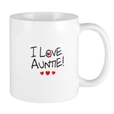 I Love Auntie - Kid Scribble Mug