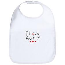 I Love Auntie - Kid Scribble Bib