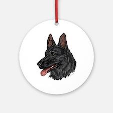 German Shepherd Ornament #5 (Round)