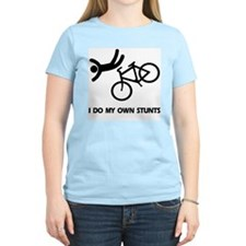 Bike, Bike, Funny Bike Stunts Ash Grey T-Shirt