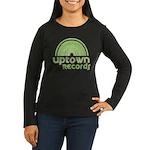 Uptown Records Women's Long Sleeve Dark T-Shirt