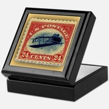 Postage Stamp Box with Ceramic Tile Top