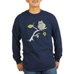 Lazy Owl Long Sleeve Dark T-Shirt