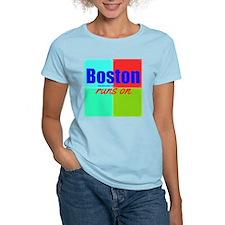 Boston Runs On T-Shirt