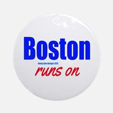 Boston Runs On Ornament (Round)