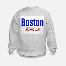 Boston Runs On Sweatshirt
