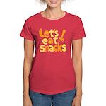 Let's Eat Snacks Women's Dark T-Shirt