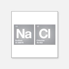 NACL Sodium Chloride Don't forget Salt Sticker
