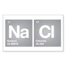 NACL Sodium Chloride Don't forget Salt Bumper Stickers