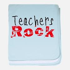 Teachers Rock baby blanket