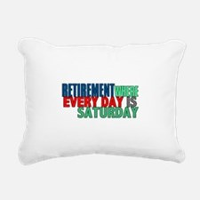 Retirement Rectangular Canvas Pillow