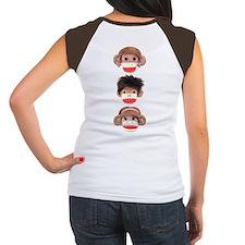 Sock Monkey Trio Women's Cap Sleeve T-Shirt