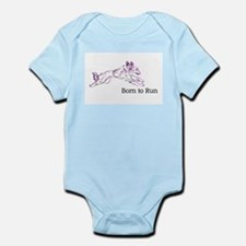Born to Run Violet Body Suit