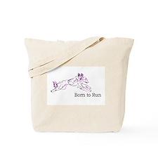 Born to Run Violet Tote Bag