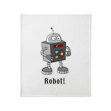 Robot! Throw Blanket