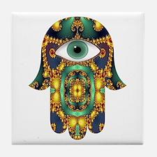 Hamsa Hand 3 Tile Coaster