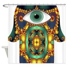 Hamsa Hand 3 Shower Curtain