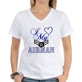 Air force girlfriend Womens V-Neck T-shirts