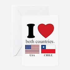 USA-CHILE Greeting Card
