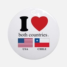 USA-CHILE Ornament (Round)
