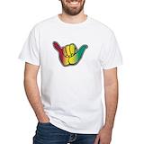 Rasta Mens White T-shirts