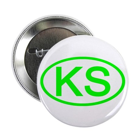 "KS Oval - Kansas 2.25"" Button (10 pack)"