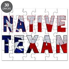 Native Texan Flag Puzzle