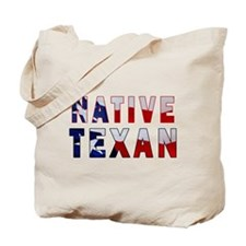 Native Texan Flag Tote Bag