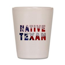 Native Texan Flag Shot Glass