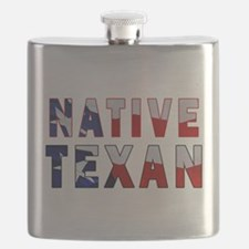 Native Texan Flag Flask