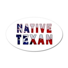 Native Texan Flag Wall Decal