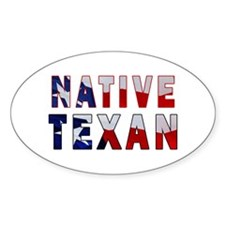 Native Texan Flag Decal