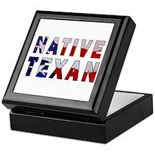Native Texan Flag Keepsake Box