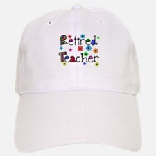 retired teacher stars flowers Baseball Baseball Baseball Cap