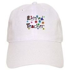 retired teacher stars flowers Baseball Baseball Cap